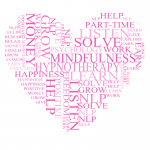 love heart with words hypnotherapy practice management