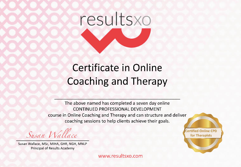 Online Coach and Therapy Training with Susan Wallace