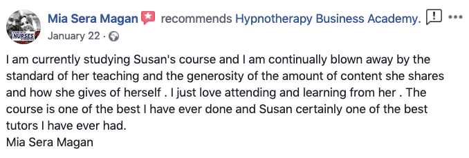 Hypnotherapy review from Mia Sera Magan