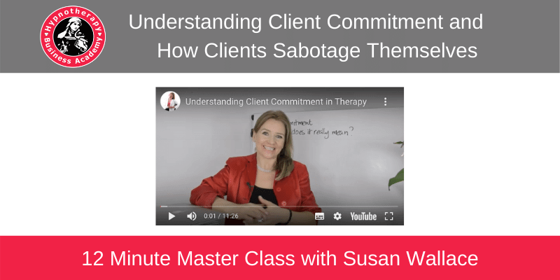 learn hypnotherapy client commitment with Susan Wallace