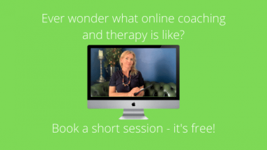 Book an online coaching and therapy session - it's free!