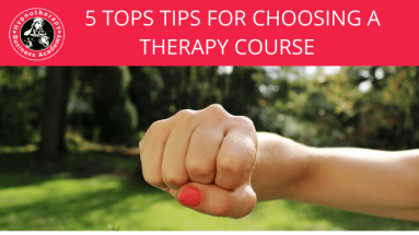 FIVE TOP TIPS FOR CHOOSING A THERAPY COURSE