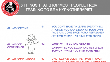 3 things that stop most people training to be a hypnotherapist